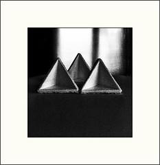 Study (Bob R.L. Evans) Tags: stilllife triangles grain highcontrast ipadphotography