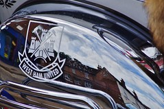 West Ham (dlanor smada) Tags: westham aylesbury bucks reflections chrome badges football