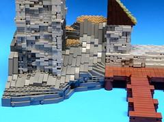 NoFig//Rock view (CeiCrownieGuy) Tags: ocean docks lego no lor figs lenfald crakenhaven