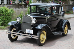 1931 Ford Model A - Wilmington, NC (osubuckialum) Tags: auto street summer black classic ford car modela 1931 nc automobile downtown driving sunday northcarolina wilmington 31 coupe 2016 a