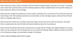 Kathy from Missouri Provides Feedback About the Environment Changer Program (mrlarrybilotta) Tags: kathy missouri environmentchanger program mess doomsday failure tears crying god marriage happy heart