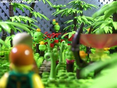 Entering the Poison Forest (Ludgonious) Tags: lego jungle plant foliage poison doog liu atlas forest trees alien