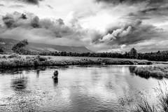 Hemsil II (Brant He. Fageraas) Tags: hemsil hemsedal norway nature blackandwhite monochrome river clouds sky skyscape landscape flyfishing flyfishingart