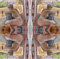 2016-07-26 symmetrical nude paintings 1 (april-mo) Tags: symmetry symmetrical art nu nude womanportrait collage experimentaltechnique experimental woman