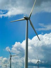 Wind power! (plethora4834) Tags: windturbine sky clouds