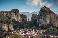 Trikala Meteora (mika_wist) Tags: greece meteora mountains clouds monastery cliffs