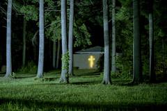 (Patrick J. McCormack) Tags: fuji gw690 kodak portra film 120 analog night glow church forest 6x9