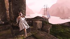 Bunny (Envy Renard) Tags: secondlife slavi avatar virtual curvy plussize fullfigure fashion plussizefashion mask white dressup fantasy castle