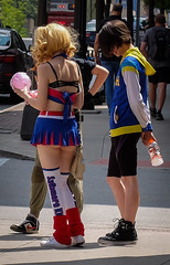 Cheeky Cosplayer (tim.perdue) Tags: cheeky cosplay matsuricon columbus ohio 2016 convention center high st candid street costume short skirt lollipop chainsaw anime character girl woman person figure butt cheeks