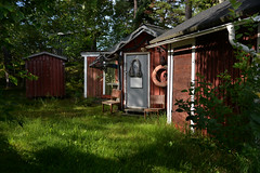 HANGONKYLA fisherman's huts (pentlandpirate) Tags: hanko hangonkyla fishermans huts harbour marina finland suomi