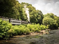 Essex STEAM train (hickamorehackamore) Tags: 2016 ct ctriver connecticut connecticutriver connecticutvalleyrailroad deepriver deepriverlanding essexsteamtrain excursiontrain summer