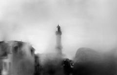 Hinterm Nebel (ChristinaWieck) Tags: 365fotosorg tag310 unscharf neblig leuchtturm olympus