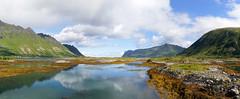 The colors of Lofoten (marko.erman) Tags: colors lofoten islands nordic polar norway panoramic panorama landscaoe beautiful nature sony wonderful sea reflection reflections sky clouds green yellow
