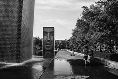 Crown Fountain (Ivaj Aicrag) Tags: ruta66 ruta 66 ruta 66 route route route66 landscape usa estados unidos united states travel on road viaje the main street america the mother la carretera madre will rogers highway1 carretera de will rogers the america calle mayor road madre chicago blackandwhite blancoynegro crown fountain