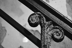 Version 2 (TheEmilyElizabeth) Tags: philadelphia philadelphiapa easternstatepenitentiary pennsylvania penitentiary abandoned decay 2014 urbandecay nikond3100 bannister texture blackandwhite