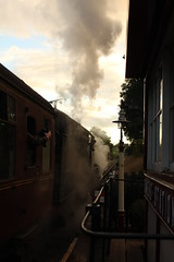 Heading into the Sun (JamesHorrellPhotography) Tags: steam trains kwvr haworth keighley 43924 90733 5820 7822 railway