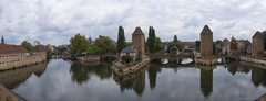 Les Ponts Couverts de Strasbourg (partial view) (lunaryuna) Tags: france lalsace strasbourg panorama urbanlandscape urbanconstruct hsitoricarchitecture bridges towers pontscouverts defensivestructures historiccitycentre stitchedpanorama walkinthecityurbanskies lunaryuna