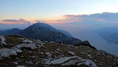 Mount Baldo and Lake Garda - sunset (ab.130722jvkz) Tags: italy veneto lombardy trentino es easternalps bresciaandgardaprealps mountbaldo lakes lakegarda mountains sunset