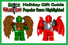 Holiday Gift Guide From A-Z: P is for Popular Items Highlighted (MandaBW) Tags: christmas holiday black angel dragon lego small saturday wrapped business gifts gift presents present demon accessories guide minifigs items monday friday popular weapons cyber helmets minifigure brickwarriors