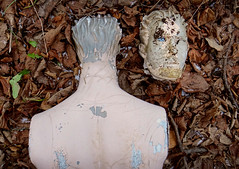 Never Say Die (f.o.s.) Tags: blue mannequin leaves rural dead eyes decay urbanexploration dummy urbex abaondoned rurex