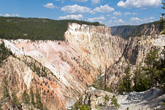 Yellowstone Canyon (Christopher Lane Photography) Tags: trip family vacation sky horse mountains hot west water beautiful landscape fun waterfall amazing buffalo cabin scenery cowboy rocks colorful unitedstates hiking gorgeous awesome oldfa