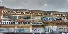 Monterrey graffiti (kevin dooley) Tags: street city urban streetart broken window trek mexico graffiti la google view wallart victoria nuevoleon monterrey streetview panamerican gsv madereria googlestreetview