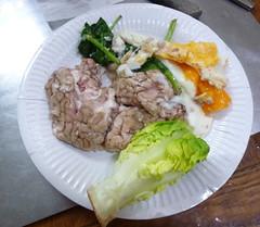 Palo - Cervelle de porc avec des ufs et du cresson (icinger.fr) Tags: organe sant recette porc palo cervelle