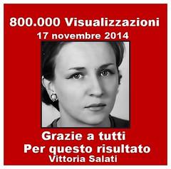 Flickr 800.000 visualizzazioni  VITTORIA SALATI (vittoriasalati) Tags: flickr vittoria salati 800000 visualizzazioni