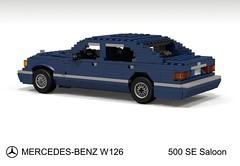Mercedes-Benz 500SE Saloon (W126 - 1985) (lego911) Tags: auto car sedan germany mercedes benz se model lego render 420 german mercedesbenz 500 sel 1980s 1985 saloon 85 bruno luxury challenge cad 126 lugnuts povray 380 560 moc sclass sacco ldd miniland 500se w126 380se lego911 liketotally80s