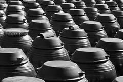 Korean Fermentation-Pot Infinity (Mondmann) Tags: travel blackandwhite bw cooking asia culture korea southkorea rok eastasia republicofkorea kimchipots mungyeong mondmann canonpowershots120 fermentationpots