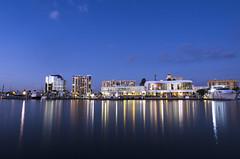 Blue Hour (Khoa Duy Duong) Tags: ocean city longexposure blue sea building buildings landscape boats golden boat long exposure cityscape ships hour land scape goldenhour yatch bot