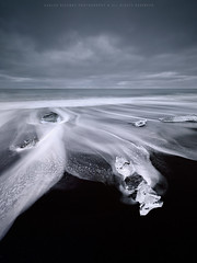 Wanna Go Back ! (CResende) Tags: seascape motion beach nature diamonds blacksand iceland back waves time return nikkor jewels hitech jokulsarlon d800 formatt 1424 cresende lucroit