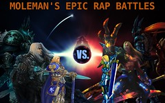 Moleman's Epic Rap Battles #22: Siegfried Vs. Arthas (Moleman9000) Tags: history collage photoshop wow video funny belmont fanart cover sword parody rap links epic siegfried rapping battles erb moleman soulcalibur crossover castlevania lich youtube merb fanfiction arthas erboh moleman9000 molemanninethousand