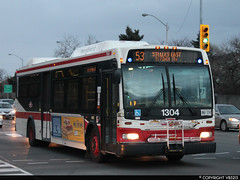 Toronto Transit Commission #1304 (vb5215's Transportation Gallery) Tags: toronto ttc transit orion ng commission vii 2007 hev
