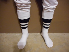 2 Stripe NFL fitted socks with white knickers. (Football Officials Referee Uniforms) Tags: two white black classic field grass sport socks vintage shoe one back football clothing referee official sock shoes uniform pants side low stripe spot line clothes equipment national mens judge piece turf league pant umpire officials nf fitted knicker linesman bilt spotbilt spotbuilt