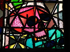 Stained-glass window (Sparky the Neon Cat) Tags: church window glass saint st germany deutschland skull europe north cologne stainedglass kln andrew andreas stained romanesque koln sankt rhinewestphalia