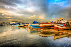 Maintenance (Nejdet Duzen) Tags: trip travel sea reflection turkey boat cloudy trkiye deniz sandal izmir yansma turkei seyahat bulutlu invciralt