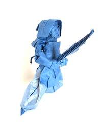 Kendo Player (folding~well) Tags: japan paper origami martial arts kendo shinai folding
