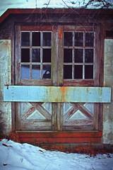 Locked Up (tucker pany photography) Tags: urban ski abandoned apple up canon photography doors pennsylvania decay hill lodge haunted tucker locked pany pixlr