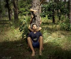 Forchest (Aaroncillo) Tags: boy portrait guy art digital forest photoshop creativity photography hands artistic retrato creative surreal ps gil retouch creatividad creativo conceptualism aarón aaroncillo