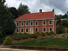 Colonial House (Matthew R. Burge) Tags: brick architecture colonial northcarolina overcast