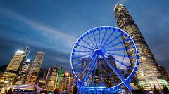 Night Wheeling (Ateens Chen) Tags: city light landscape hongkong nikon nightscape central ateens d700 flickrhongkong afsnikkor1635mmf4gedvr flickrhkma