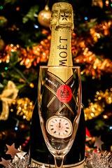 Happy New Year (NSJW photos) Tags: decorations light love glass champagne newyear christmastree midnight wishes happynewyear pocketwatch moetchandon 2015 bestwishes nsjwp