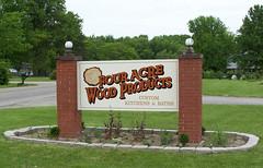 four acre (Miller Signs & Designs) Tags: wood brick art sign logo design graphics kitchens furniture quality painted baths identification custom better woodworking oldworld craftsmanship logodesign arthuril signdesign