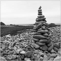 St Martins Sculpture (barrycross) Tags: blackandwhite beach monochrome seaside cornwall graphic stmartin squareformat lowtide islesofscilly wwwbarrycrossphotographycom
