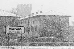 Heavy snow (Pierpaolo.) Tags: christmas light sky italy snow cold tower castle history nature beautiful field wonderful landscape countryside blackwhite italian europa europe italia december torre village natural zoom great natura campagna cielo neve campo stron