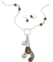 5th Avenue Brown Necklace P2320-4