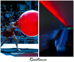 Red&Blue (s..s..s..) Tags: blue red motion blur ball stuck circus path resistance cirkus bl rd