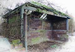 Last surviving Trolleybus Stop (Lazenby43) Tags: decay derelict sthelens trolleybus merseyside derelictbuilding