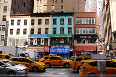 Yellow Taxis in NYC (Paulo Corceiro) Tags: street nyc cars yellow america buildings taxis americana roads